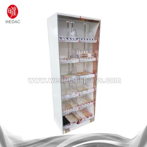 Pharmacy 600 width cosmetic floor stand