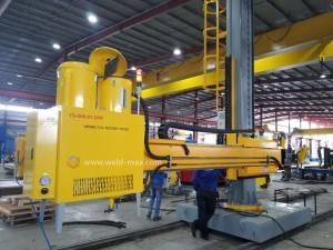 Moving Manual Welding Manipulator With SAW For Downward Fillet Welding