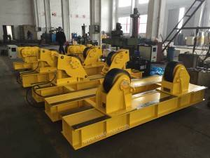 Yellow PU Wheels Fixed Fit-up Pipe Growing Line