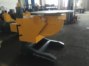 Yellow Elevating Welding Positioner With 0-120° Turong Angle