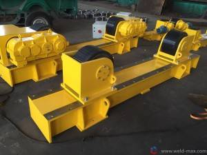 40T Fixed Adjustable Pipe Turning Rolls With 2*1.5KW Motor And Φ400mm PU Wheels