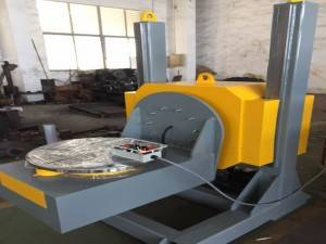 HBJ-05 Elevting L-type Welding Positioner With 0.09-0.9rpm Overturning And Vertical Turning Table