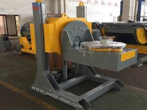 Yellow 10T L-Type Welding Positioner With 2000mm Table And 3KW Turning Power