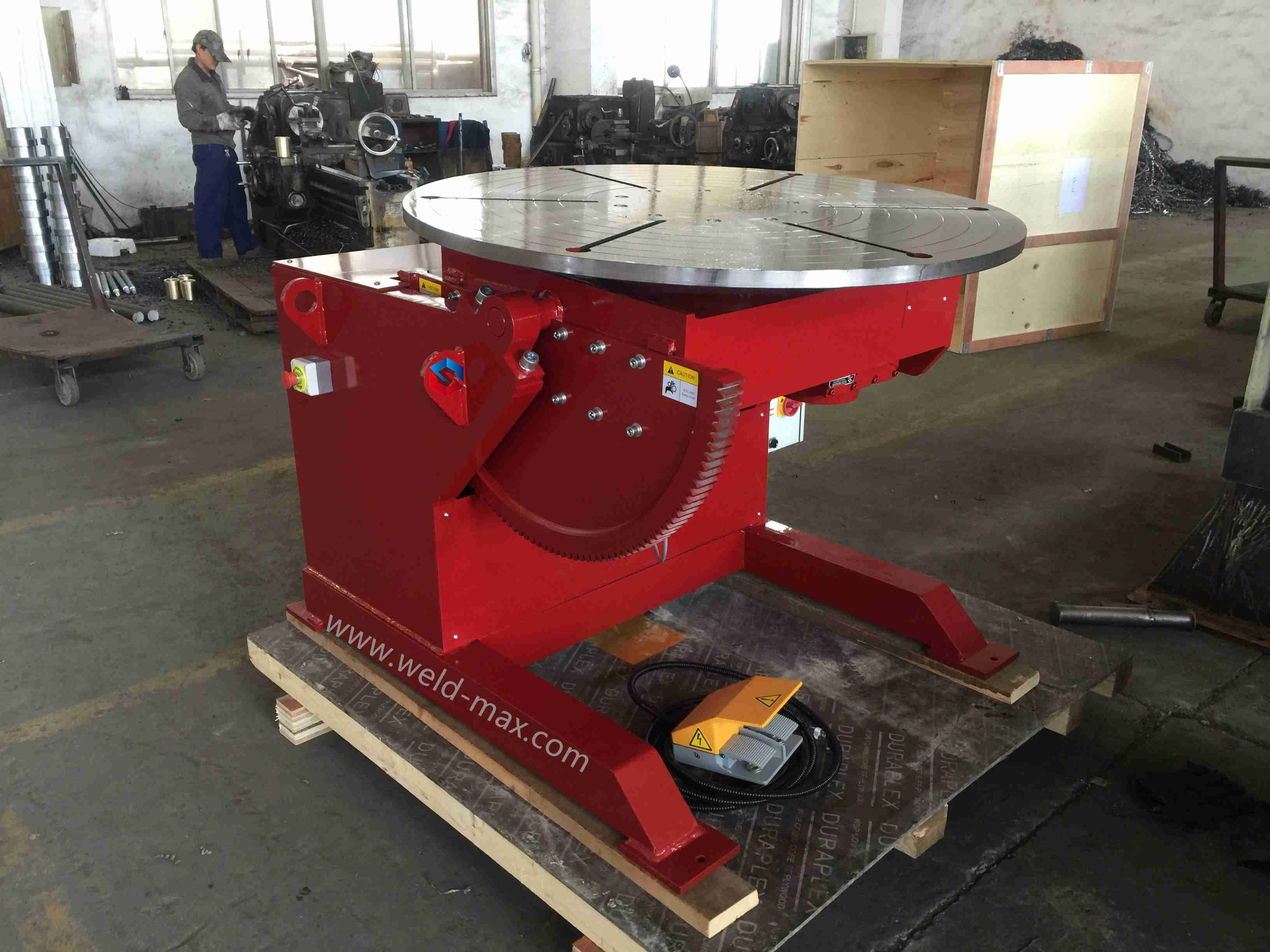 HBJ-06 Auto Pipe Flange Turntable Welding Positioner With 0.75 Turning Power Featured Image