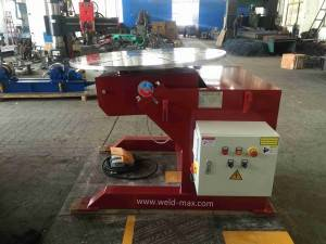 HBJ-40 Red Fixed Welding Positioner With Horizontal Turning Table And 5 JAWS Chuck
