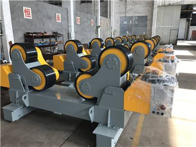 America order for 40 Tons welding rotator with traveling wheels