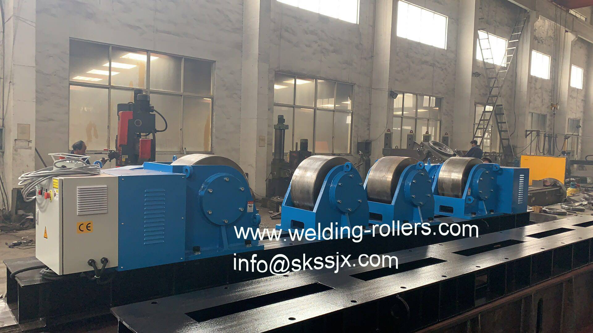 200T welding rollers with steel roller wheels to European market