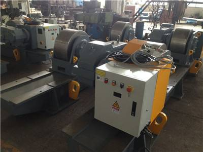 Thailand order for 160T 200T welding rotator with steel roller wheels