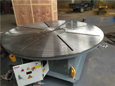 Singapore order of 5 Tons horizontal turn table with 2000mm table size