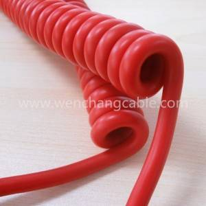 UL20937 TPU Spiral Cable Coiled Cable Curly Cable