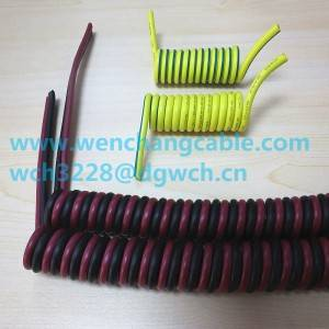 UL21119 LSZH 2C-10C Coiled Cable Spiral Cable Spring Cable