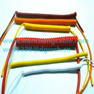 UL21139 PUR Shielded Coiled Cable Spiral Cable temperature 60℃ Rated voltage 300Volts