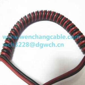 UL21165  TPU Elastic Cable Curly cable Spiral Cable Coiled cable PP,PE or FR-PE insulation PUR Jacket Cable