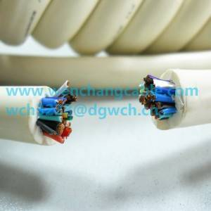 UL21324 Spiral Cable Coiled Cable Alarm Cable Telephone Cable Elastic Cable