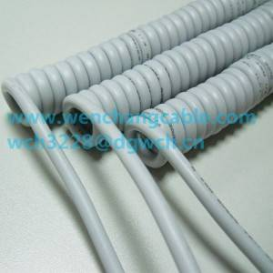 UL21327 Spiral Cable with Shielded Tinned Copper Cable Pure Copper Cable  Coiled Cable