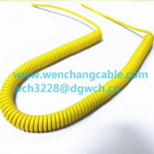 UL21329  PVC insulation TPU Jacketed Cable  Cable Spiral Cable Water-resistant Oil-resistant