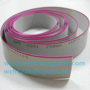 UL2651 PVC Flat Cable Flat Ribbon Cable 105℃ 300V