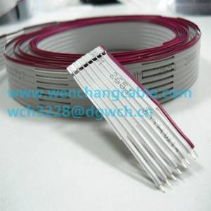 UL2651 Flat Cable Ribbon Cable stripped & cutted Cable