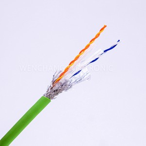 UL21705 Signal Transmission Cable Jacketed Cable TPE Cable Baluktot Pair na may Shielding Al Foil Braided