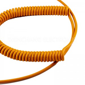UL20233 TPU Cable Water-proof Medical Coiled Cable with 300V Rated Voltage