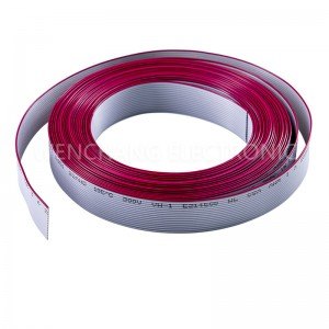 UL2651 PVC Flat Cable Grey flat with red stripe pitch 1.0, 1.27,1.5,2.0, 2.54mm Pitch