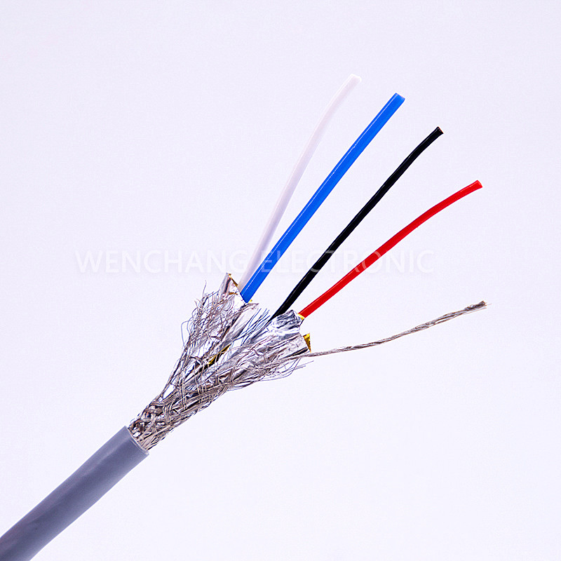 UL21284 Connector Cable Jacketed Cable Multicore Cable with Shielding Al Foil Braided Featured Image