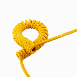 UL21238 TPU Spiral Cable Curly Coilded Cable Oil Resistant