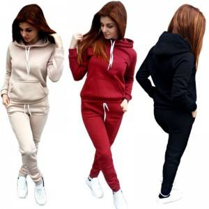 Casual Tracksuit For Women Hoodies Joggers Drawstring Two Piece Oversized Wholesale