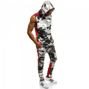 Men Hoodies and Joggers Summer Sports Fitness Hip Hop Clothes Manufacture