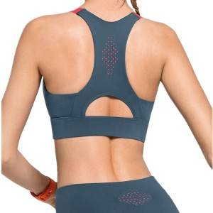 Crop Top Sports Bra Gym Wear Full Coveraget Adjustable Strap Seamless Fitness Sports Bra
