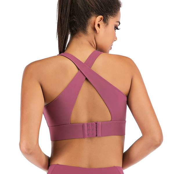 Manufacturing Companies for Short Sets Tracksuit - Latest Sports Bra With Hook And Eye X Back Glaze  – Westfox
