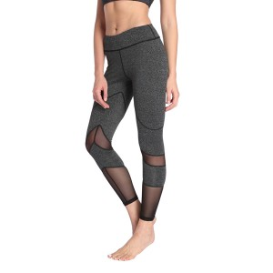 Women Yoga Wear Leggings Mesh Splicing Soft 240g