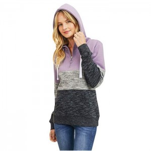 Women Hoodie Sweatshirt Ultra Soft Fleece 1/4 Zip Up
