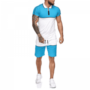 Men Tracksuit Set Sunlight Newest Casual Design Custom Logo Two Piece