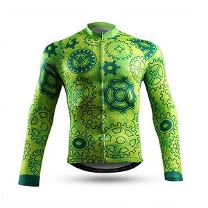 Bike Jersey Long Sleeve with 3 Rear Pockets