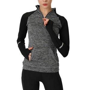 Yoga lange ermer Half Zip Sweat Running