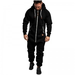 One Piece Tracksuit Men Jumpsuit Athletic Workout Full Zip Autumn Winter