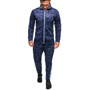 Men Sport Jogging Track Suit Zipper up Without Hood High Quality