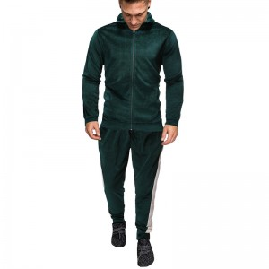 Men Jogger Track Suit Velour Velet Hot Sale Plus Size