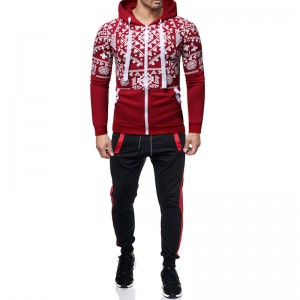 Sweat Suits Men Fitted Exercise Tracksuit 2 Pieces Full Zip