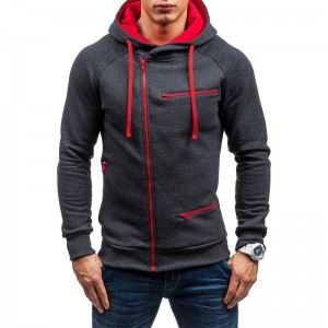 Men Hoodies Fleece Zip Sports Custom Logo Stock Outerwear Winter