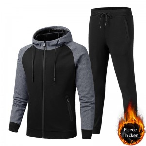Fleece Tracksuit Men Sport Jogging Trainig Wholesale New Design