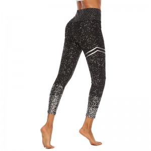 Ladies Sports Leggings Running Cycling Breathable Big Size Recycle Thin Glow Effect Quick Dry