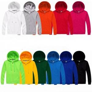 Fashion Hoodie with Zipper Blank Custom Autumn Cheap Plus Size