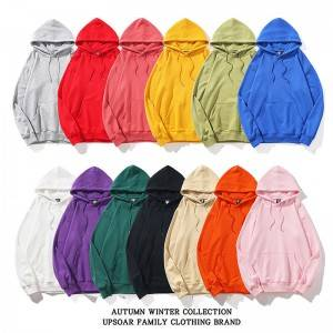 Gym Mens Hoodies Pullover Solid Color Custom Logo Drawstring Wholesale