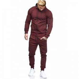 Mens Tracksuit Fleece Supllier Bulk Hoodies Jogging Running Training Plus Size