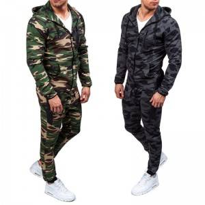 Camo Tracksuit Men Training Sports Athletic Jogging Wear Wholesale