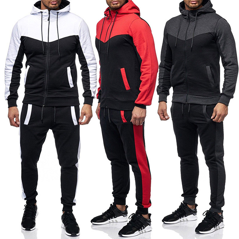 Cotton Sweat Suit Men Tracksuit New Design Gym Sports Training Featured Image