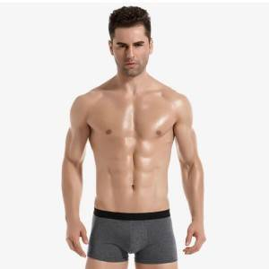 Men Boxer Briefs Underwear Of Cotton Spandex With 180 GSM