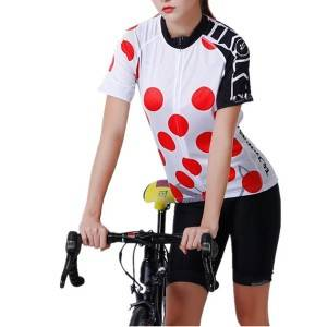 Women Cycling Jersey Set Short Sleeve Summer Custom